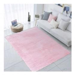 Różowy dywan z miękkim włosem