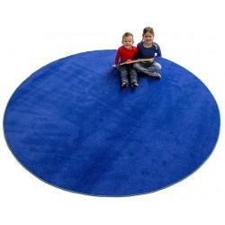 Okrągły dywan z atestem
