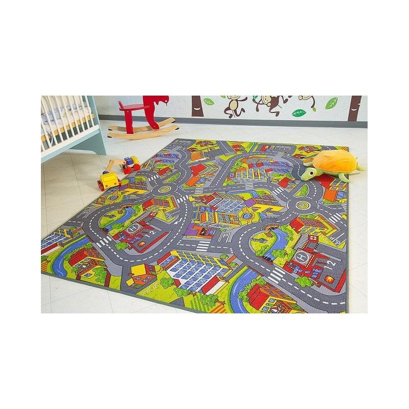 Dywanik Dziecięcy Smart City Miasto Drogi 160x250